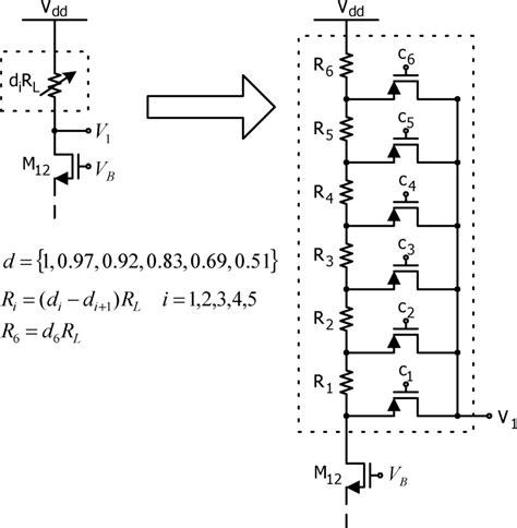 circuit diagram variable resistor schematic diagram of a variable resistor circuit and