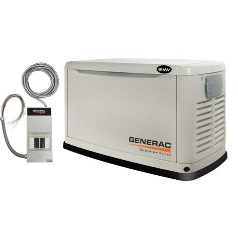 generac 8 000 watt air cooled automatic standby generator