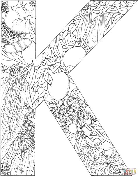 K Coloring Pages For Adults by The Letter K Coloring Pages Az Coloring Pages