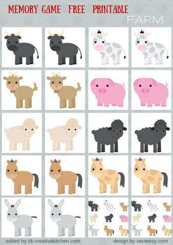 printable animal game pieces animals memory game free printables preschool