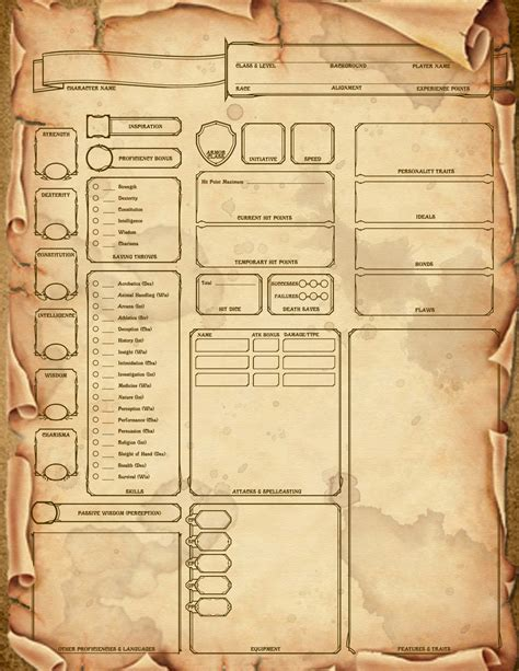 dnd 5th edition template 3x5 card dm paul weber