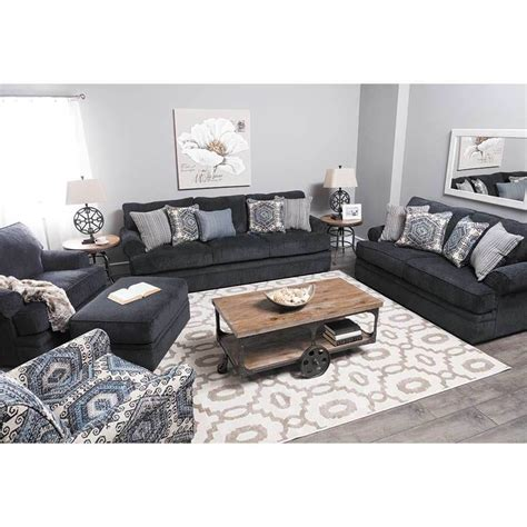 simmons upholstery scarlet sofa slate bellamy slate sofa and loveseat fabric living room sets