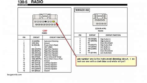 2000 ford mustang radio wiring diagram wiring diagram