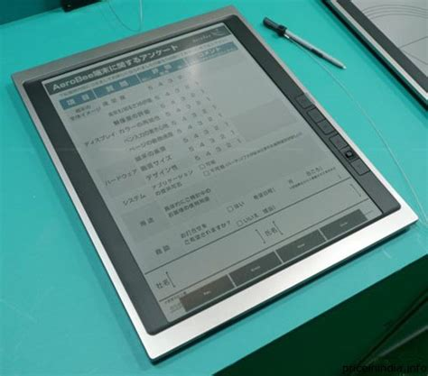 e paper writing tablet bridgestone e ink display tablet the tech journal