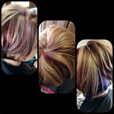 peek a boo hair color ideas beige and highlights brown hair color with