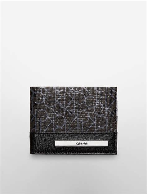 Calvin Klein Ck Wallet calvin klein mens ck coated slimfold wallet ebay