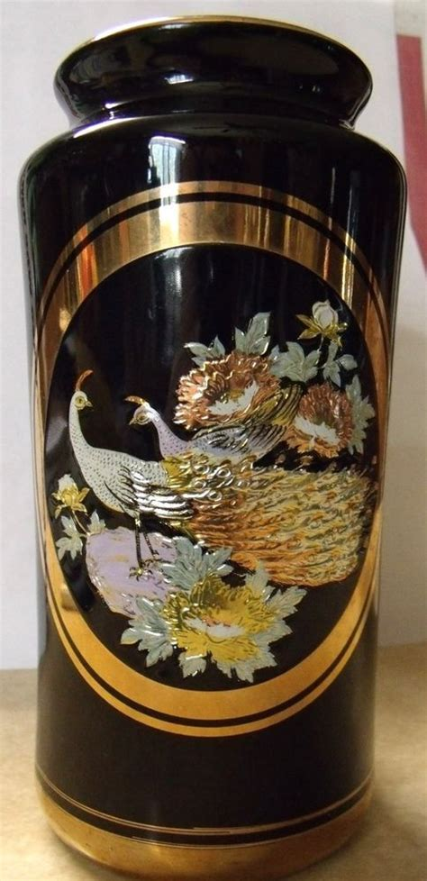 The Of Chokin Vase by The Of Chokin Black Vase And Plate Set 24kt Gold W