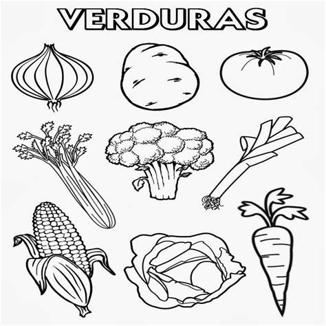 dibujos para colorear de frutas y verduras resultado de imagen para las verduras para colorear