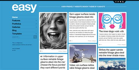 Easy Psd Website Template By Kubasto Themeforest Easy To Build Websites From Templates