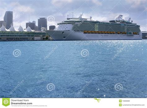 boat cruise vacation beautiful cruise vacation boat in miami downtown royalty