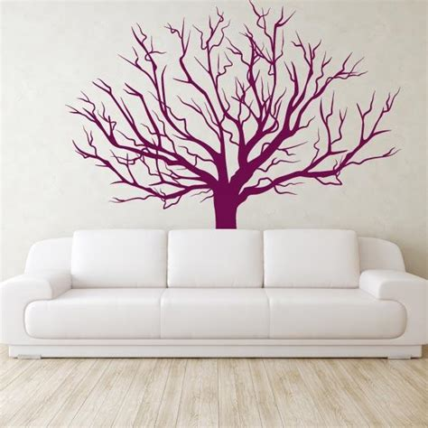 tree sticker wall decal winter tree wall stickers large tree vinyl wall decal