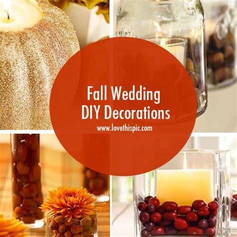 diy fall wedding decorations fall wedding diy decorations