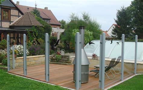 sichtschutz aus glas mit kunststoffpfosten - Terrasse Sichtschutz Glas