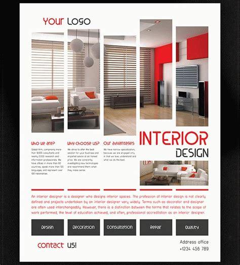 23 Interior Flyer Templates Free Premium Download Interior Design Brochure Template Free