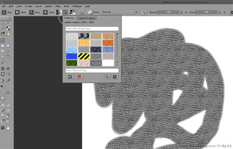 krita pattern brush mockup and feature design textured brush david revoy