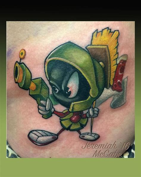 marvin the martian tattoo marvin the martian by jeremiah mccabe tattoonow