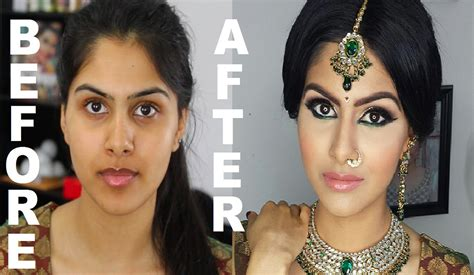 Makeup Pre Wedding before and after indian bridal makeup before and after