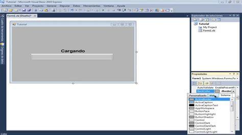 tutorial visual basic 2010 tutorial progressbar y timer en visual basic 2010 express