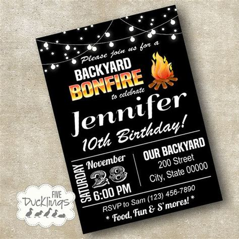 backyard party invitations 17 best ideas about backyard bonfire party on pinterest bonfire parties bonfire
