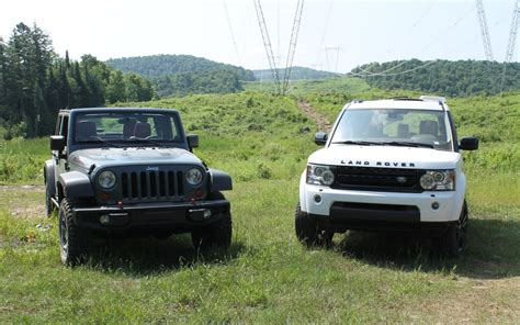 land rover jeep 2014 jeep wrangler vs land rover lr4 mud or chagne
