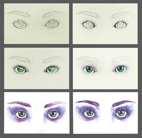 tutorial drawing watercolor watercolor eyes step by step by euminee on deviantart