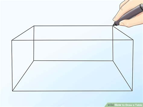 how to draw a table 2 easy ways to draw a table with pictures wikihow