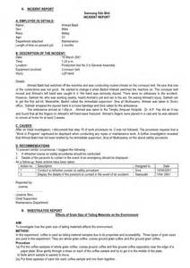 How To Write An Incident Report For Work Sample Incident Report