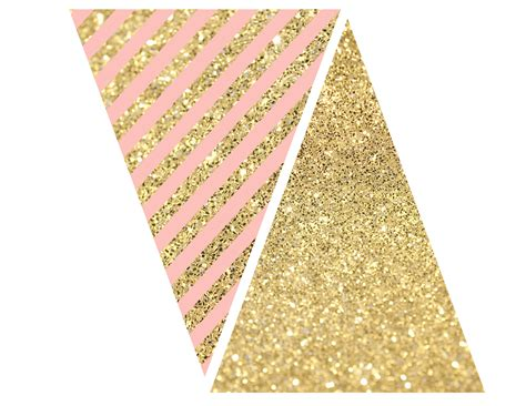 Pink Gold pink and gold banner free printable paper trail design