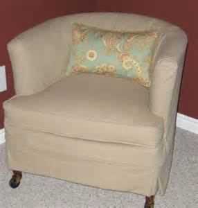 Barrel Chair Slipcover Custom Slipcovers By Shelley Before And After Of Barrel Chair