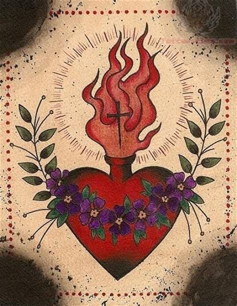 sacred heart tattoo designs ink and dagger