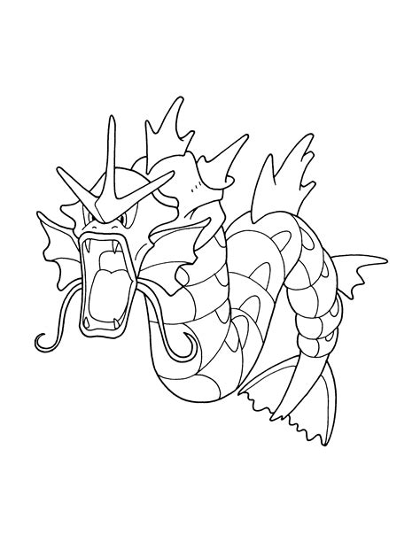 pokemon coloring pages gyarados free coloring pages of pokemon gyarados