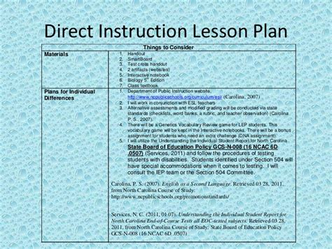 Direct Lesson Plan Template by Mendelian Genetics Read5255 Direct Lesson Plan