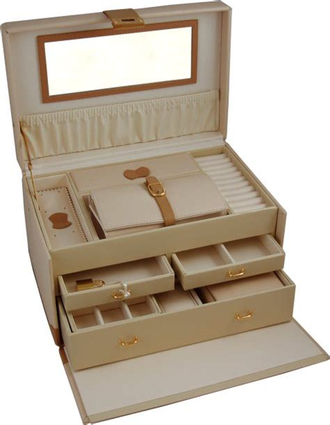 large cream amp tan leather jewellery boxes amp large leather