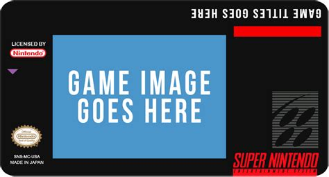 Snes Label Template by Snes Label Template Usa By Michaelmannucci On Deviantart