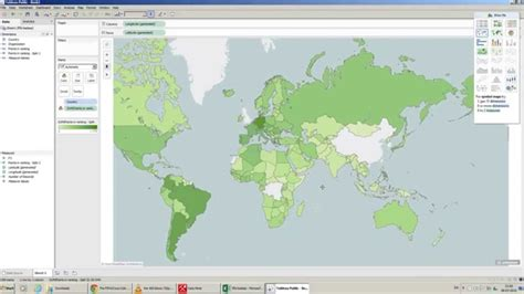 world map   excel country data tableau