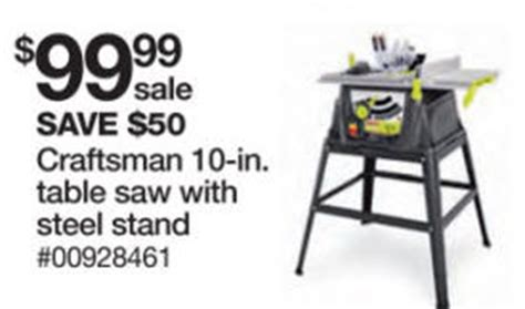 black friday table saw black friday deal craftsman 15 10 in table saw 28461
