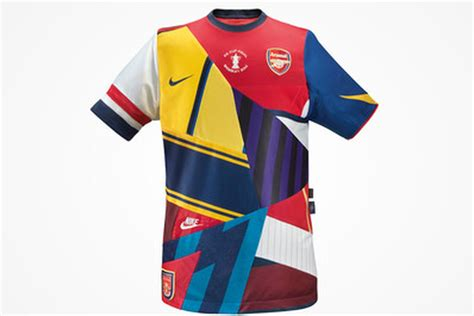 Arsenal Patchwork Shirt - nike says goodbye to arsenal with limited edition