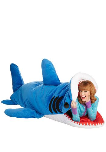 shark pillow sleeping bag sea nic adventures sleeping bag in shark mod retro vintage decor accessories modcloth com