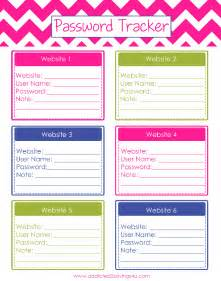 7 best images of printable internet password sheet free