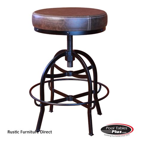 Rustic Iron Bar Stools by Rustic Adjustable D98b Barstool