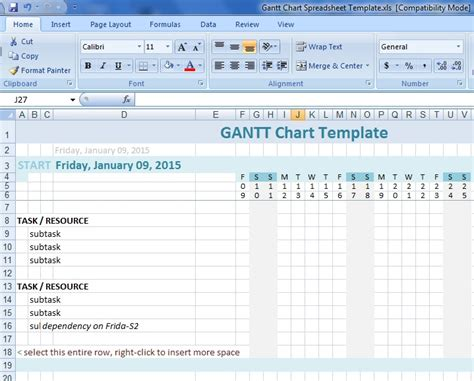 microsoft word gantt chart template for project planning