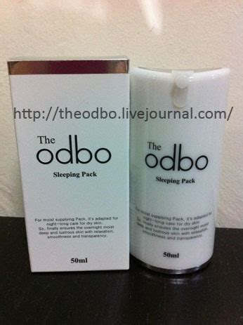 The Odbo Sleeping Pack 50ml the odbo