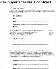 contract template for selling a car privately car sale contract sle 10 exles in word pdf