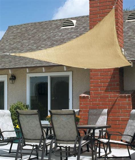 sail awnings for decks new 10ft triangle sun block shade sail uv canopy awning