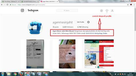 bio instagram untuk online shop 4 tips meningkatkan follower instagram secara gratis dan