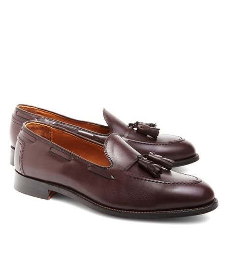 tassle loafer brothers tassel loafers in brown for lyst