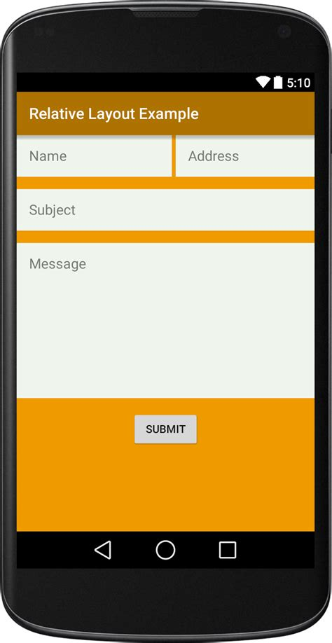 layout view android android relative layout exle viral android