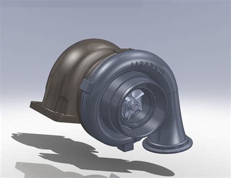 tutorial turbo solidworks garrett turbocharger 3d model