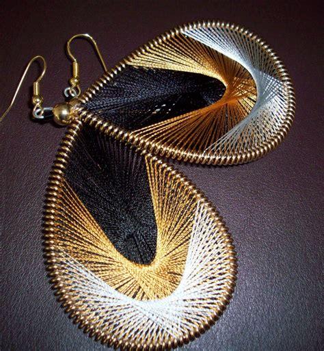 Handmade Thread Jewellery - thread earrings diy handmade jewelry silk