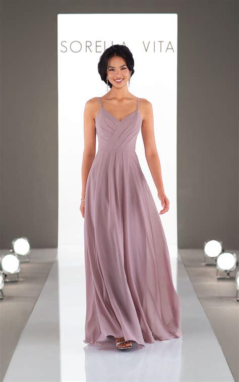 classic bridesmaid dress with cowl back sorella vita